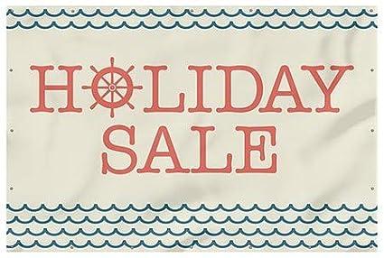 futurepost.co.nz Holiday Sale 9x6 CGSignLab Nautical Wave Heavy ...