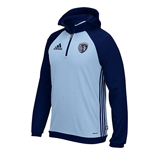 MLS Sporting Kansas City Adult Men On-Field Hooded Sweatshirt,XX-Large,Blue