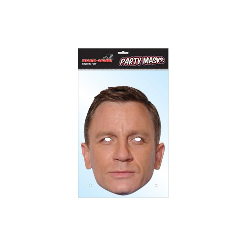 James Bond Mask Pack- 2 Masks- Roger Moore and Daniel Craig