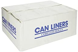 Spectrum C334016N HDPE Institutional Trash Can Liner, 33 gallon Capacity, 40\