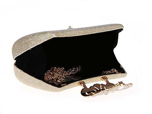Or de Main Soirée Pochette de Sac Elégante Ankoee Mariage à Pochette Cristal en Sac Embrayage qw7661