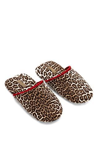 Luna Di Giorno Women's Leopard Collection Slippers, Print brown, One Size