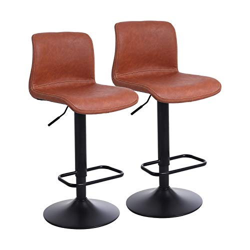 Miraculous Mellcom Adjustable Bar Stools With Black Bar Stools Set Of 2 Modern Pub Kitchen Counter Height Fabric Bralicious Painted Fabric Chair Ideas Braliciousco