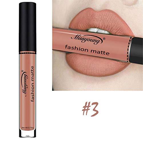 Matte Lip Gloss Nude Makeup Tint Waterproof Liquid Lipstick Pintalabios Rouge A Levre Mat Lip Volume Plumper Gloss Lippenstift 3 -