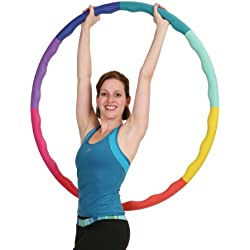 Sports Hoop Weight Loss Series: Acu Hoop 3L - 3.3lb (41 inches wide) Large, Weighted Fitness Exercise Hula Hoop