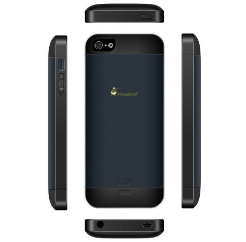 TekuOne iPhone 5 BC3 KiwiBird Rechargeable Extended Battery Boost Case for iPhone 5 (Black/Blue)