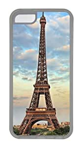 Eiffel Tower Paris France Custom Design iPhone 5c Case and Cover - TPU - Transparent