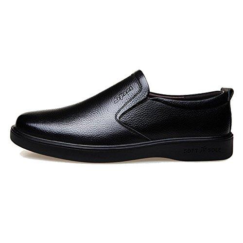 LYZGF Hommes Affaires Casual Mode Saisons Jeunesse Conduite Chaussures en Cuir Black