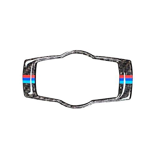 Arotom For BMW E92 E90 E93 3 Series Carbon Fiber with M-Stripe Headlight Switch Frame Cover Trim (Mix Color)