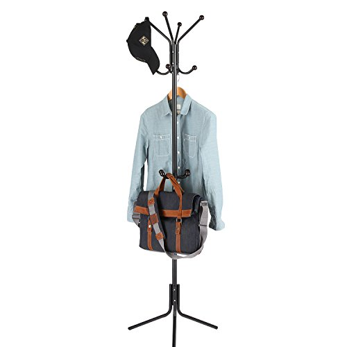 HOMFA HEAVY DUTY METAL COAT RACK AND HAT HANGER NOW ONLY $19.54!