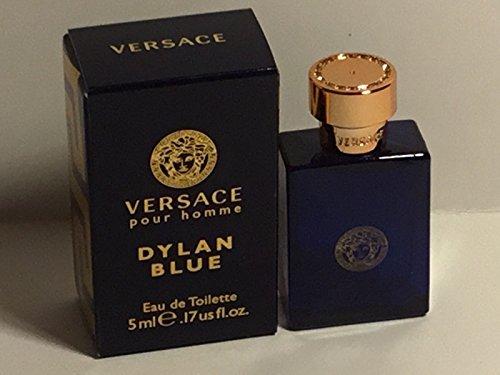 Versace Dylan Blue Mini Eau de Toilette Splash for Men, 0.17 - Versace Men Blue