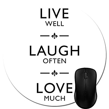 Amazon Live Laugh Love Quote Gaming Mouse Pad Durable Office Amazing Live Laugh Love Quotes