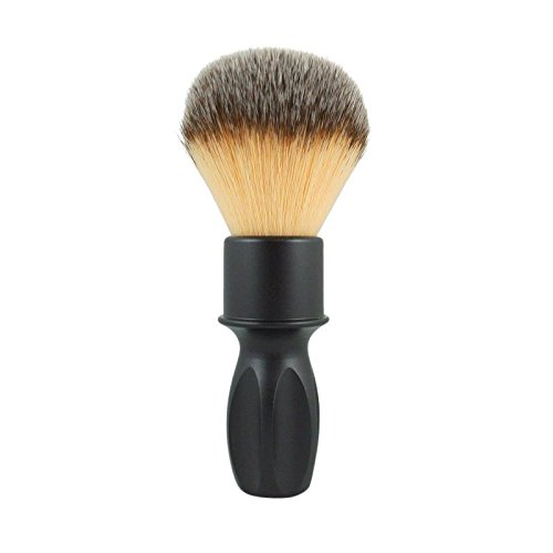 RazoRock 400 Plissoft Synthetic Shaving Brush - Matte Black Handle Butterscotch Handle