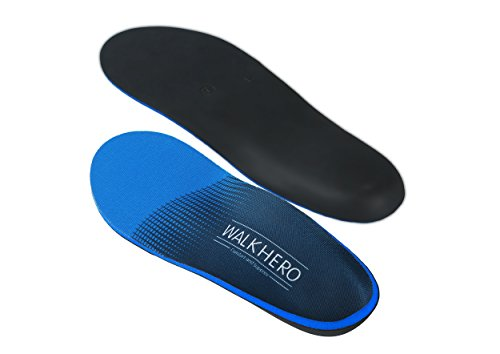 Arch Support Insoles Men Plantar Fasciitis Feet Insoles Arch Supports Orthotics Shoe Inserts For Relieve Flat Feet, High Arches,Back Pain,Full Length,Mens Shoes Inserts Mens 7- 7 1/2 |Womens 9 - 9 1/2 by WalkHero (Image #6)
