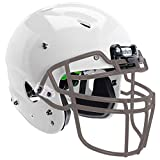 Schutt Sports Vengeance A3 Youth Football Helmet - Includes Carbon Steel Facemask, White Helmet, Gray V-ROPO-TRAD-YF Facemask, Large