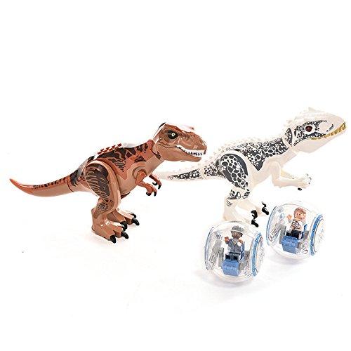 Jurassic Dinosaur world Figures 2pcs/lot Tyrannosaurus Rex Minifigure Blocks TOY