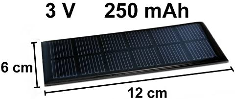 edi-tronic Solarzelle 3V 250mAh Solar Solarmodul 12cm x 6cm Mini Kleine Hobby Zelle