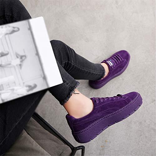 Zeppa Casual Ponte Con Moda C Fall Da Yan Calzature Spring Donna Sportive Accollate Di Tonda Scarpe amp; In Sneakers Pelle aRR8qZv