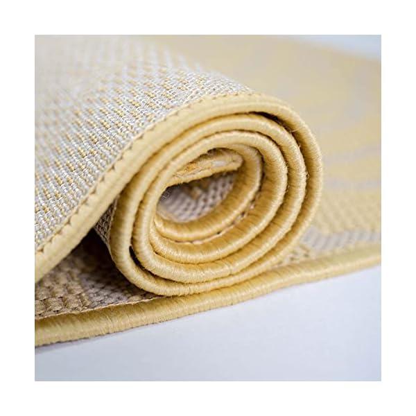 41balA UwAS CC Teppich In-Outdoor Wetterfest Gelb-Beige 60x230cm Oeko-Tex Standard 100% Polypropylen Allergiker geeignet
