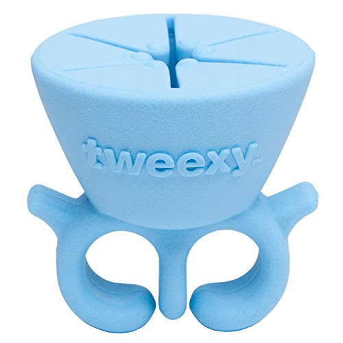 Tweexy - The Original Wearable Nail Polish Bottle Holder, Island Blue (Tone Polish Nail Skin)