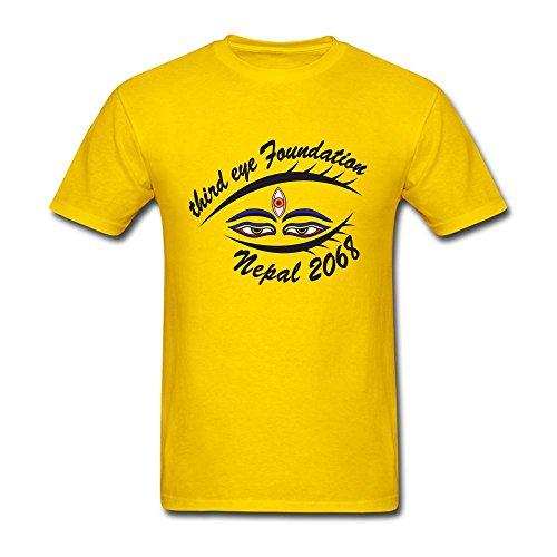 NYShirt Men's Third Eye Logo Short Sleeve T-Shirt XX-Large Yellow