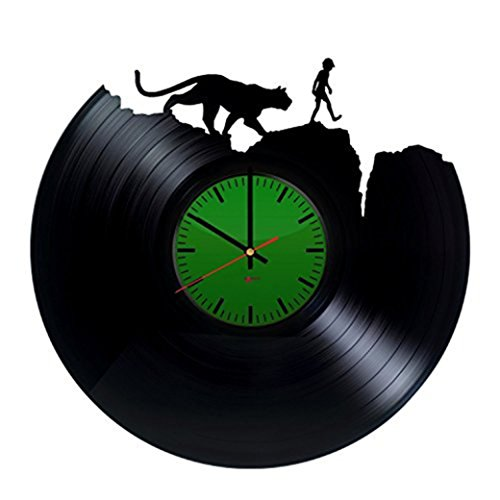 [Jungle Theme Handmade Vinyl Record Wall Clock - Get unique nursery room wall decor - Gift ideas for children, kids – Movie Characters Unique Modern] (The Jungle Book Baloo Costume)