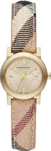 Burberry-Champagne-Dial-Haymarket-Check-Fabric-Ladies-Watch-Burberry-BU9219