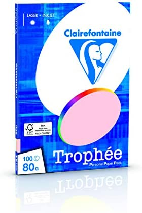 Clairefontaine Trophee Papier sortiert Pastell/4100C 80 g/qm Inh.5x 20