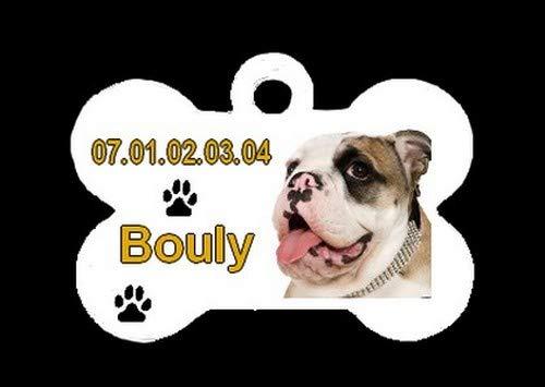 Générique Medalla OS Personalizada Bulldog Inglés con Nombre N ...