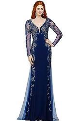 Women's Long Rhinestone Beaded Sequin Dress