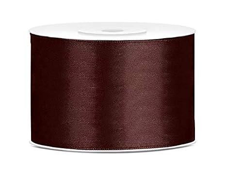 5-10m Dekoband Satinband Schleifenband Geschenkband einseitig 5 cm Satin Ribbon