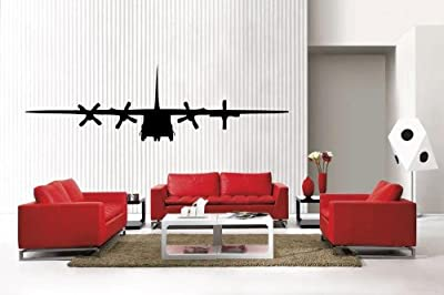 Newclew C 130 Military Army Airplane removable Vinyl Wall Decal Home Décor Large
