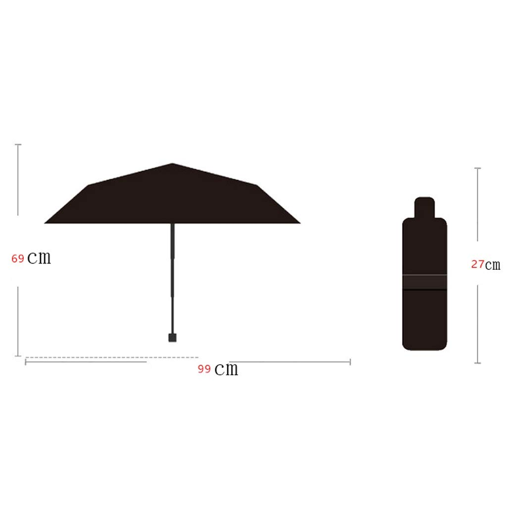 29a854708cf3 Amazon.com: WZJ-UMBRELLAS Clear Umbrella Black Plastic Folding ...