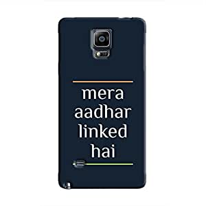 Cover It Up - Mera Aadhar Linked Hai Galaxy Note 4 Hard Case