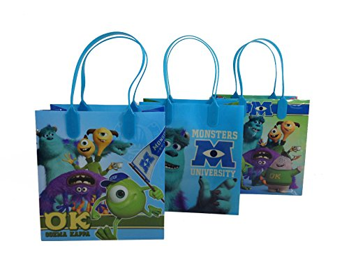 12pcs Monster University Treat Bags MU Goodies Bags Party Favor Birthday Loot Bags