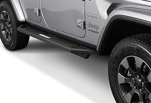 iArmor Aluminum Side Steps Armor Custom Fit 2018-2020 Jeep Wrangler JL Sport Utility 4-Door (Nerf Bars | Side Steps | Side Bars)
