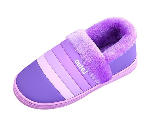 Chaud Pourpre Icegrey Unisexe Slippers Intérieur Chaussons Hiver Pantoufles Chaussures Antidérapants Maison qwtwv14