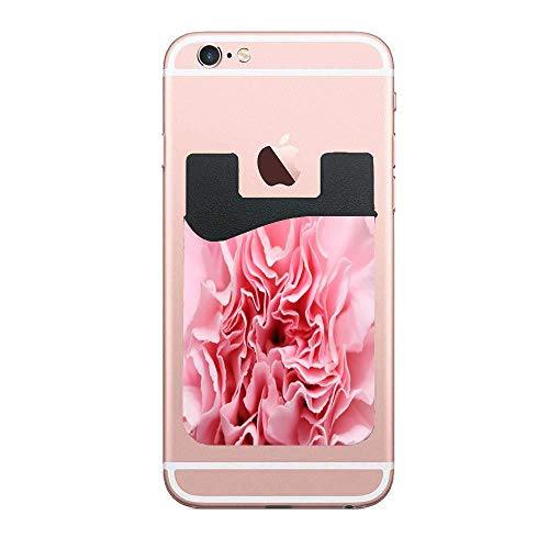 Carnation Cross - CardlyPhCardH Carnation Flowers Lines Card Holder for Back of Phone - Cell Phone Wallet with Pocket for Credit Card, ID, Business Card - iPhone, Android and Most Smartphones 2 PCS
