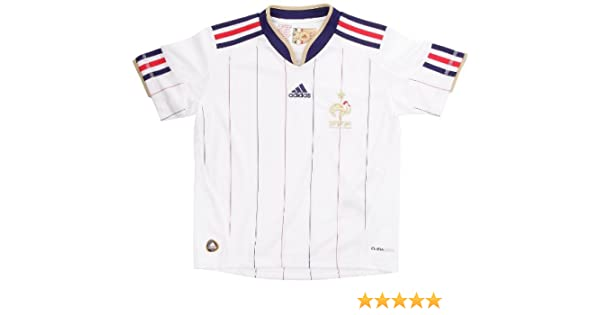 adidas-Camiseta de fútbol de la selección de Francia de FFF. Exterior para niño, Color Blanco y Dorado, Color - Blanco y Dorado, tamaño 12 años: Amazon.es: Ropa y accesorios