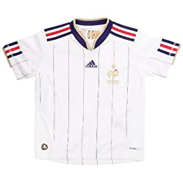 adidas Maillot Football Equipe France FFF Extérieur Junior Blanc/Or