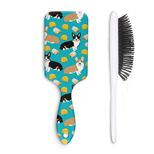 Fashion Soft Hair Brush corgi tacos cute corgi dogs - Pain Free - for Women Men Kids Good for Thick Thin Long Short Dry Damaged Curly any hair -