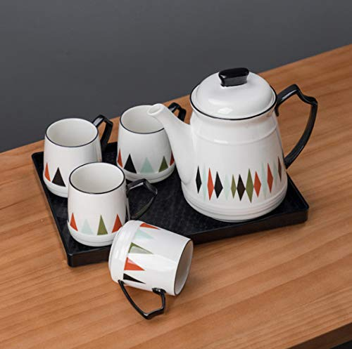 Tea Set Europe Water Cups Mug Cold Kettle With High Temperature Coffee Porcelain Teapot Teatime A