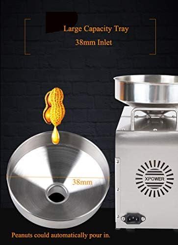 CGOLDENWALL Presse à Huile Machine Automatique à Chaud/Froid Double Température en Acier Inoxydable pour L'huile de Noix de Coco de Tournesol