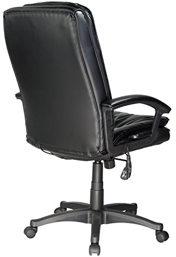 046854166615 - Comfort Products 60-6810 Leather Executive Chair with 5-Motor Massage, Black carousel main 2
