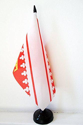 Drapeau de Table Alsace 21x14cm AZ FLAG
