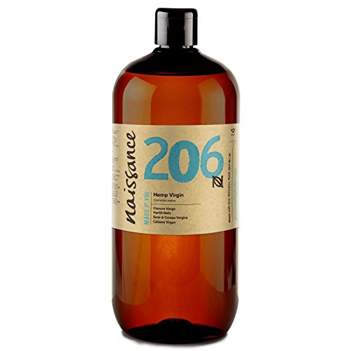 Naissance Cold Pressed Virgin Hemp Seed Oil (no. 206) 1 Litre - Pure &...