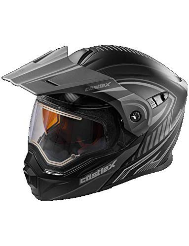 Castle X EXO-CX950 Apex Electric Modular Snowmobile Helmet Black/Gray MED