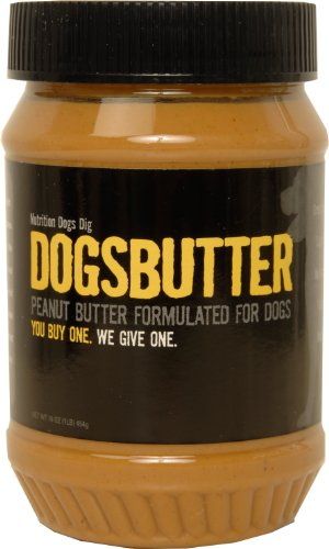 DOG for DOG Dogbutter Original Peanut Butter with Flaxseed for Dogs, 16-Ounce, My Pet Supplies