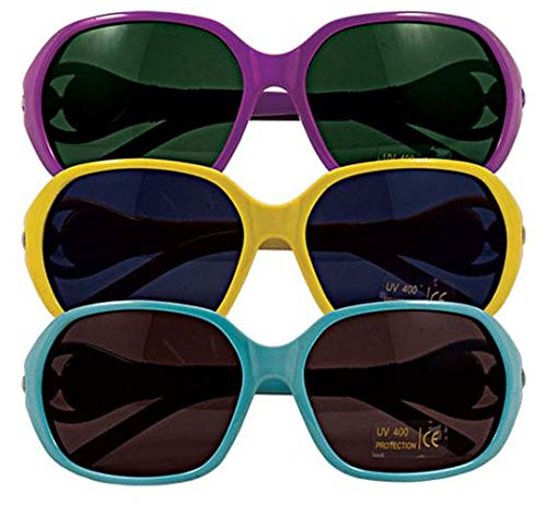 Little Girls' Hollywood Sunglasses Assortment - (12) Pieces - Assorted Colors - For Kids, Boys and Girls, Party Favors, Pinata Stuffers, Children's Gift Bags, Carnival Prizes