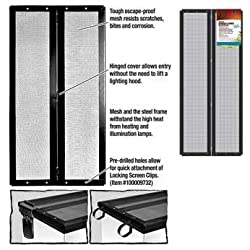 Zilla Fresh Air Terrarium Metal Screen Cover with Hinges (30 X 12 Inches)